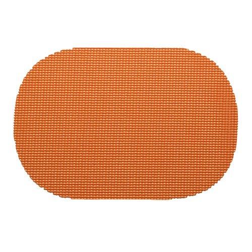Kraftware 14836 Fishnet Placemat Dz, Oval, Spice Orange