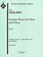 Fantasy Pieces for Oboe and Piano, Op.2 (Romance (No.1) – for violin and orchestra): Bass part (Qty 4) [A6481]