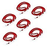 Cinta para gafas en paquete de 6 unidades. Estable cordón para gafas. Largo de las cintas para gafas de sol aprox. 65 cm (rojo)