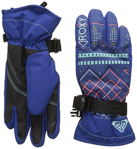 Roxy Jetty Girl Guantes de Snowboard/Esquí, Mujer, Azul (Sodalite Blue Pattern_4), M