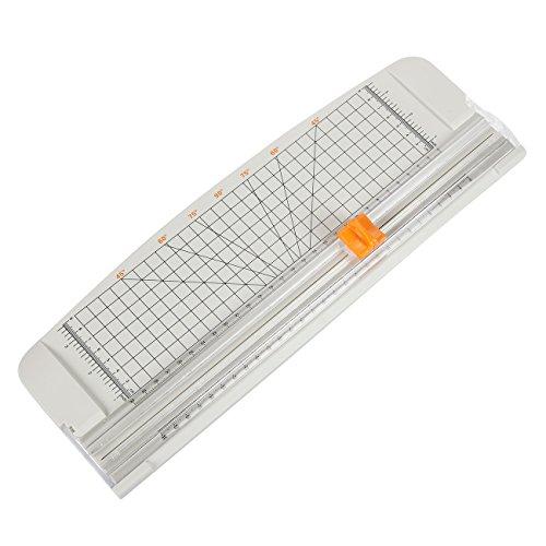 Cortador de papel cortadora de papel/papel–tabla de cortar con cuadrícula guía–para Scrapbooking, imagen de corte, diseño de etiqueta, Cupón de corte–gris, 14.75x 5.1pulgadas