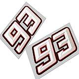 numero 93 estilo NUEVO 3d EFECTO Gráficos x 2 Pequeño Talla