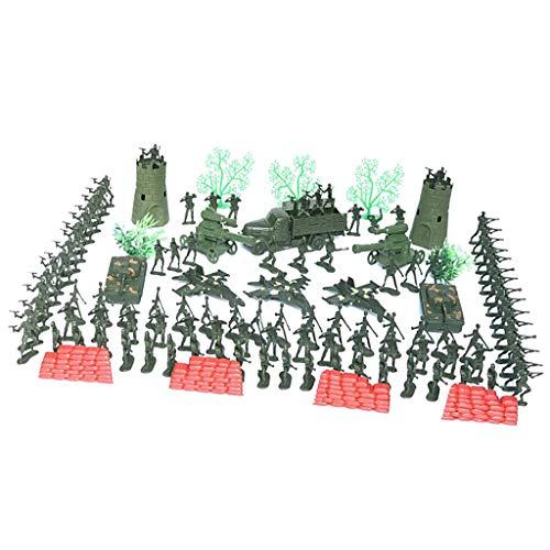 167x Plastiksoldaten Soldaten Figuren Mini Wachturm Kampfflugzeug Kleine Militär Spielfiguren Spielzeug für Kinder
