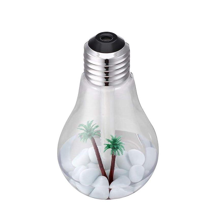 塩辛い言う想像する新しいUSBクリエイティブ電球加湿器 - シルバー