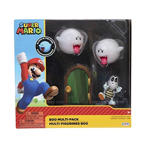 SUPER MARIO Boo 2 Pack with Dry Bones Actioin Figure Set