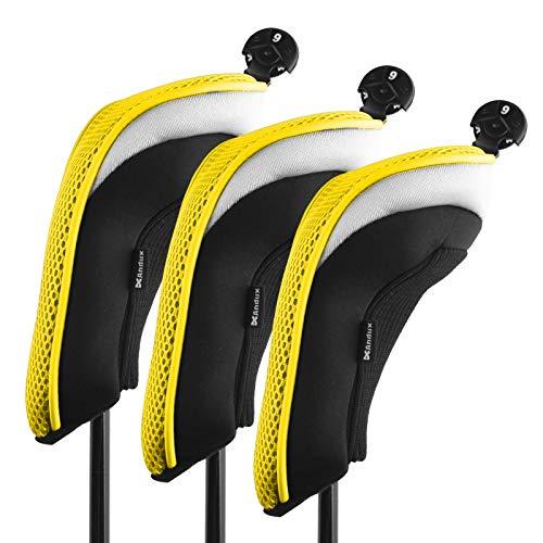 3unidades Andux fundas para cabezas de palos de golf híbridos intercambiable no. Etiqueta