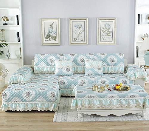 Beyrfcta Funda de sofá y sofá de agarre antideslizante, funda de terciopelo para sofá seccional, protector de sofá, funda reclinable, funda para futón (solo 1 pieza/no todo juego)