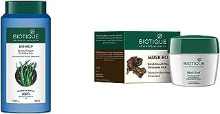 Biotique Bio Kelp Protein Shampoo for Falling Hair Intensive Hair Regrowth Treatment, 340ml & Biotique Bio Musk Root Fresh...