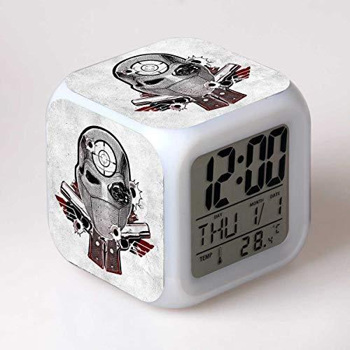 Hero Squad Reloj Despertador Digital Reloj Despertador Iluminado Para Niños 7 Colores Led Luz Nocturna Reloj Despertador Para Niños El Mejor Regalo De Cumpleaños/Navidad Para Niños(8 * 8 * 8cm) 17