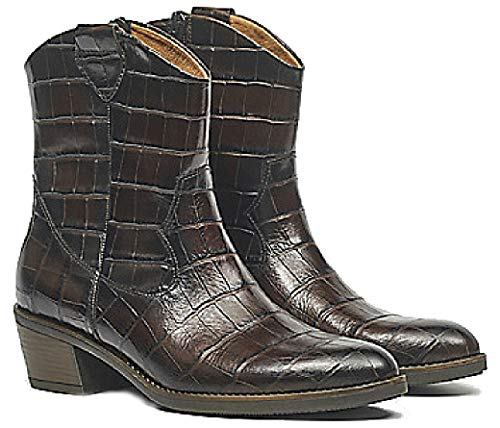 Gabor 31.600.53 Enkellaars Vrouwen - Bruine krokoprint