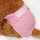 Pantalones fisiológicos Sanitarios del pañal del Perro del Animal doméstico, elástico Respirable de la Ropa Interior Femenina Lavable del Perro pequeño (Color : Pink, Size : Medium)