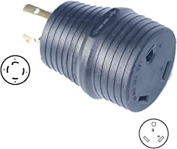 BlueCatELE RV Adapter Plug 30 Amp Generator Adapter Power Adapter Plug L14-30P 4-Prong Male to RV30 3-Prong Female