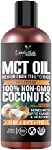 Luxura Sciences MCT Oil Organic 250 ml, MCT Keto Oil 100% Premium Grade A,Unsweetened,Non-GMO, Gluten Free for Weight and ...