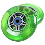 TGM Skateboards 2 Scooter Wheels with ABEC 7 Bearings for Razor Scooter 100mm (Green)