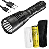 Nitecore MH25S 1800 Lumen Tactical Flashlight, Long Throw Rechargeable with 5000mAh Battery and LumenTac Battery Organizer