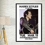 One Direction Harry World Tour Concierto Ciudad Fecha Banda de música Estilos de Cantante Lienzo Pintura Arte de la Pared Póster Impresiones HD Fans Dormitorio Sala de Estar Club Decoración de