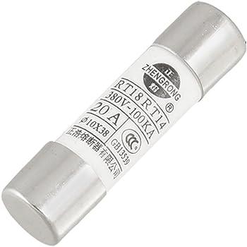 sourcingmap/® 5 pcs 10 x 38mm 500V 32A Fusible cylindrique /électrique R015-32 Liens