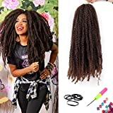 6 Packs Marley Hair for Twist Braiding Hair 18 inch Marley Twist on Natural Hair Type 4C Crochet Braids Hair Extensions for DIY(18', T1B/30)