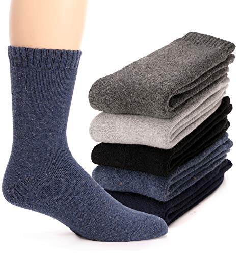 Mens Wool Socks Thermal Heavy Thick Fuzzy Soft Warm Winter Socks 5...