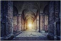 HDボローニャイタリア-神の光の光線と古い教会の建物の古いアーチと柱9017943(大人のためのプレミアム1000ピースジグソーパズル19x27)