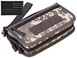 Protector Plus Tactical Wallet for Men ID Card Holder Military Credit Cards Organizer Pack Portable Handbag MOLLE Bag Purse (Patch Included), ACU
