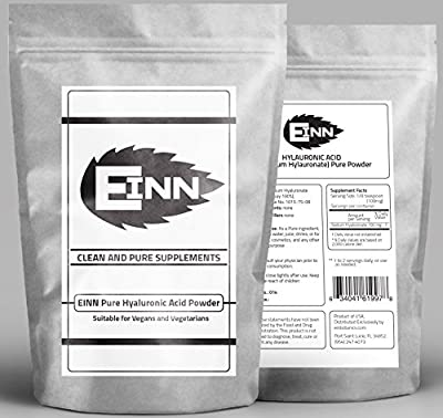 Hyaluronic Acid Powder Pure 2g   100% NATURAL SODIUM HYALURONATE   Makes 200g (7oz) Hyaluronic Acid Serum Gel   Balanced Molecular Weight Enhances Skin Penetration