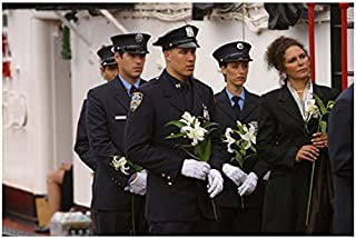 Third Watch 8 x 10 Photo During Funeral Holding Lillies Dress Blues kn