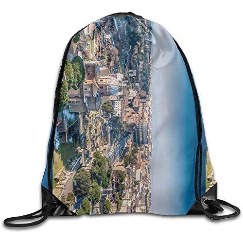 AllenPrint Sportbeutel,Die Antike Stadt Rom Italien Attraktive Kordelzug Cinch Taschen Für Reisen Klettern Laufen 36x43cm