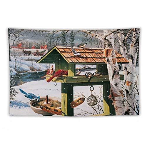 VinMea Tapiz de pared para banquetes de patio trasero, para colgar en la pared y decoración del hogar, para dormitorio, sala de estar, dormitorio de 159 x 159 cm