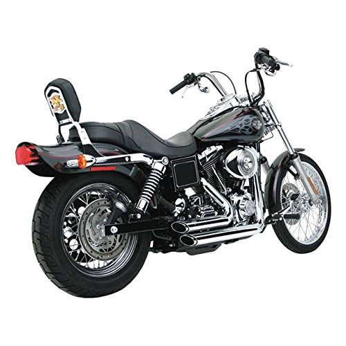 Scarichi Marmitte Shortshots Staggered Vance & Hines Cromati x Harley Davidson Dyna, Street Bob FXDB, Low Ride FXDL, Fat Bob FXDF, Wide Glide FXDWG, Super Glide FXD, Switchback FLD DAL 1991 AL 2005 91-05
