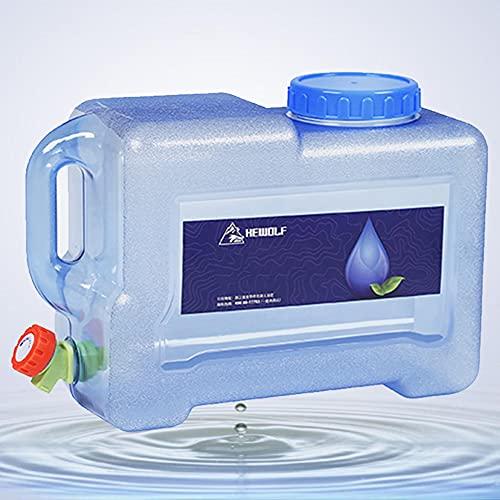 Cubo de Agua Portátil Garrafa, 20L Contenedor de Agua de Grado Alimenticio Portá para Camping Acampada Senderismo Escalada y Actividades al Aire Libre(46 * 25 * 25 cm)