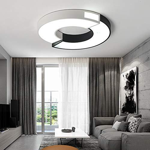 KK Timo Lámpara de techo LED redonda con costura para sala de estar, dormitorio, mesa de luz de techo, diseño creativo para el hogar, restaurante, hotel, cafetería, decoración (tamaño: 45 x 45 cm)