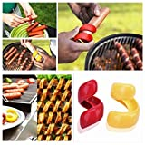 2pcs Vegetable Tools Slicer kitchen Cutting Auxiliary Gadget Barbecue Spiral Manual Fancy Sausage Cutter