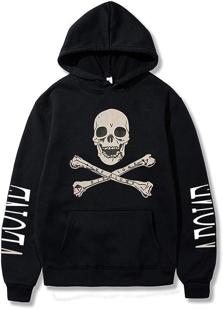 POPIER Vlone Hoodie Men Women Big V Pullover Vlone Hoodies Angel Skull Fashion Long Sleeve Sweatshirt Sweater for Women Boys