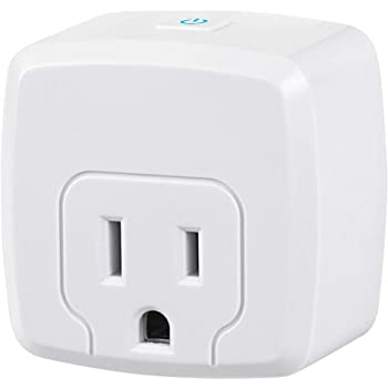 HBN Mini Smart WiFi Plug, Heavy Duty Wi-Fi Timer with One Grounded Outlet, Wireless Remote Control by App Compatible with Alexa/Google Home Assistant 2.4 GHz Network only, ETL Listed (1 Pack)