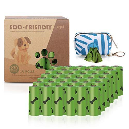 Cottonix 270 Hundekotbeutel mit 1 Kostenlosen Spender, auslaufsicheren und duftend Kotbeutel für Hunde.