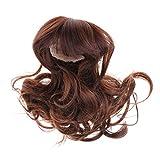 Puppenhaar Lange Haare lockiges Perücke für 1/4 BJD Puppe DIY Herstellung Zubehör - Braun