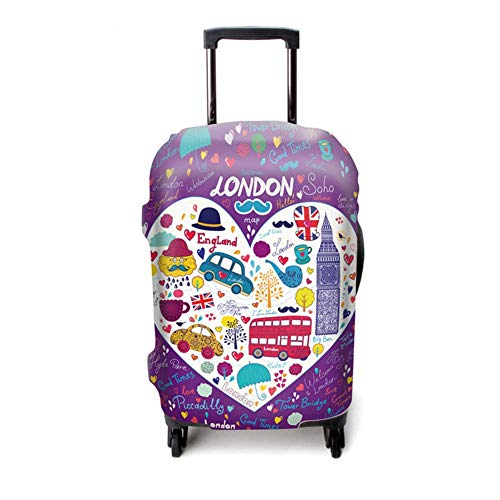Hame Kofferwagen Hochausziehbarer Kofferüberzug aus Blattgraffiti-Kofferset aus Polyesterfaser
