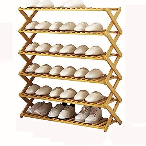 TYXL Caja de Almacenamiento Zapatero de múltiples Capas, Simples Especiales para el hogar, Zapatos pequeños, gabinete, Dormitorio económico, Puerta, Espacio Provincial, Estante Plegable