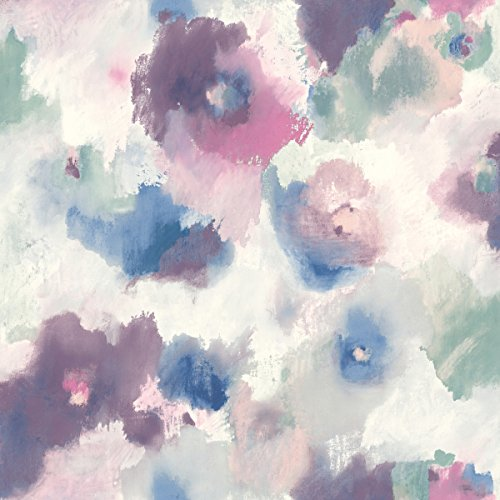 Impressionist Floral Repositionable and Removable Peel and Stick Wallpaper