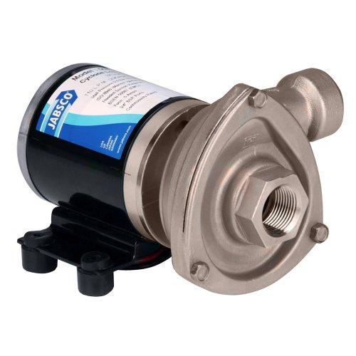 Marine High Flow Low Pressure Cyclone Centrifugal Pump, 29.7 GPM, 12 Volt, Black - Jabsco 50840-0012