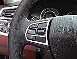 WYZXR Cubierta del botón del Volante Compatible con molduras 5 7 Series F10 520 525 2011-2017 Accesorios Interiores del automóvil