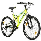 Bikesport Parallax 26' Bicicletta Biammortizzata Doppia Sospensione (Neon Verde)