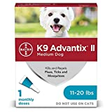 K9 Advantix II Flea and Tick Prevention for Medium Dogs, 11-20 Pounds