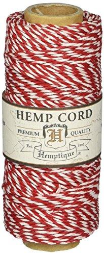 Hemptique - Cordón de pastelero (Fuerza Media: 9 kg), Color Rojo y Bl