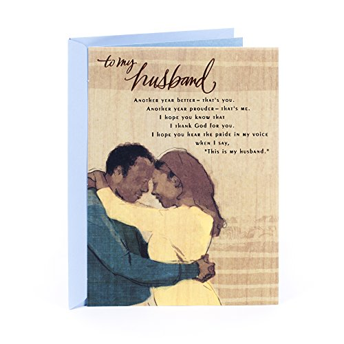 Hallmark Mahogany Religious Birthday Greeting Card for Husband (My Rock), Painting of Embrace (0399RZD2030)