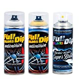 AutoFullCar - Pintura ANTICALÓRICA Acrílica Brillo Full Dip para Pinzas DE Freno - 2 x Spray 400 ml (Amarillo Brillo)