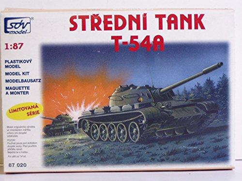 SDV Modellbau Kunststoff Modellbausatz Militär 1:87 H0 Russischer Mittlerer Panzer T 54 A Kampfpanzer Fahrzeuge DDR NVA Ostblock