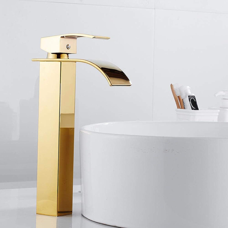 Lddpl Wasserhahn Becken Wasserhahn Wasserhahn Bad Wasserhahn Solid Gold Armaturen Einhand-Waschbecken Mischbatterie