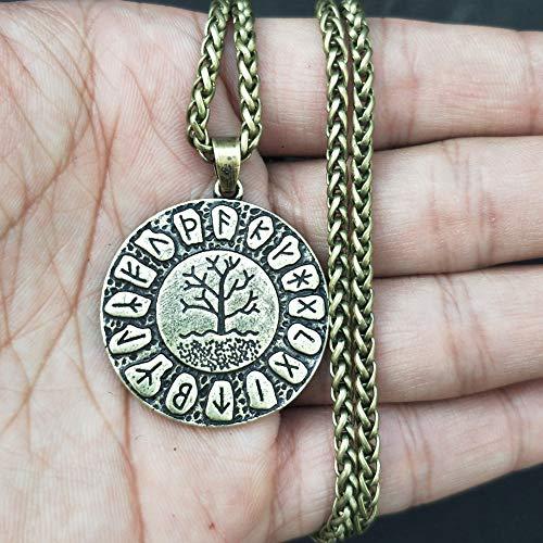 Ellyeall Viking Rune Halskette Baum des Lebens Anhänger Amulett Mode Antikschmuck Nordic Mythos...